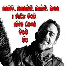 the walking dead negan personalised birthday card with badge