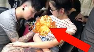 Big Breast Memes - woman s boob explodes during tattoo session youtube