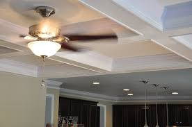 custom made coffered ceiling installation by finishing