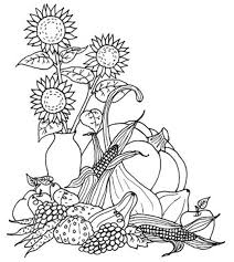 coloring pages fabulous thanksgiving harvest coloring pages