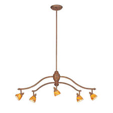 Shades For Chandeliers Hton Bay 5 Light Walnut Adjustable Hanging Chandelier With
