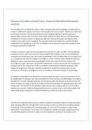 overview of credit card debt cures financial debt relief informatio u2026