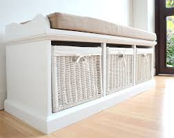 Bedrooms And Hallways by Tetbury White Storage Bench With Cushion Quality Hallway Bench