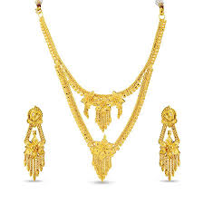 gold necklace set jewellery images 22 kt yellow gold necklace set in 30 gms nl703056 by zkd jewels in jpg
