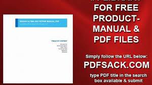 nissan altima 2002 repair manual pdf video dailymotion