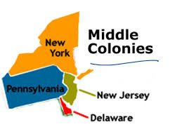Blank 13 Colonies Map Middle Colonies Map American Chesapeake Bay And The Middle