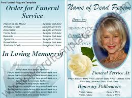 sle of funeral program 12 best funeral program templates images on free