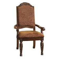 Upholstered Dining Room Arm Chairs Signature Designs By Ashley North Shore Dark Brown Upholstered