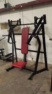 hammer strength plate loaded incline chest press used gym