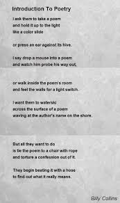 introduction to poetry poem by billy collins poem hunter