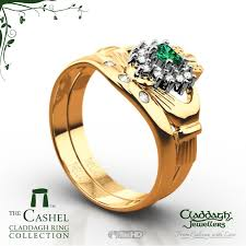claddagh wedding ring sets emerald 14kt gold 3 claddagh wedding set claddagh jewellers