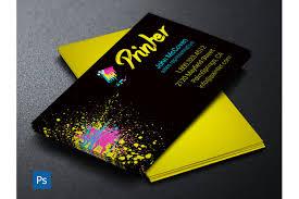 printer business card psd template by g design bundles