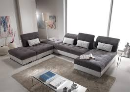 canapé cuir et tissu canapé d angle modulable en cuir et tissus modèle edition magasin