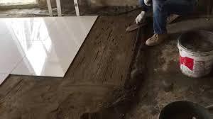floor tile installation process 60x60 cm polished tiles part 5