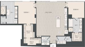 3 Bedroom 2 1 2 Bath Floor Plans Houston High Rise Apartments Floor Plans At The Southmore
