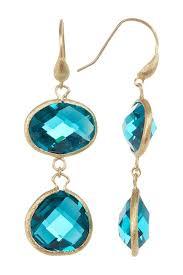 rivka friedman earrings rivka friedman 18k gold clad faceted london blue dangle