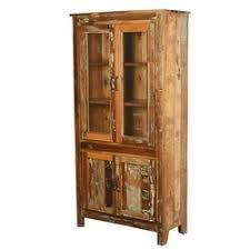 Break Front Cabinet Pioneer Rustic Reclaimed Wood 70 5