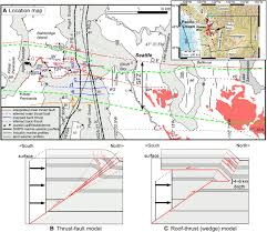 Seattle Earthquake Map kinematics of shallow backthrusts in the seattle fault zone