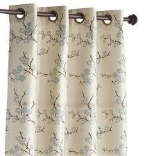 Blue Curtains Cherry Blossom Blue Grommet Curtain Pier 1 Imports