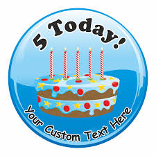 Happy 5th Birthday Cake Stickers