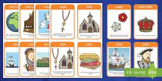 the tudors timeline flash cards tudors henry history word