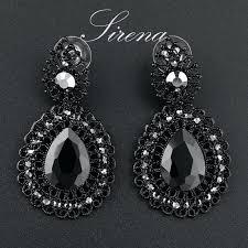 Big Chandelier Earrings Black Chandelier Earrings With Crystals U2013 Eimat Co