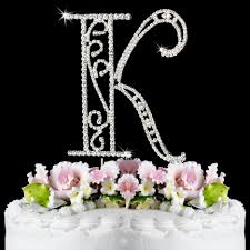 s cake topper k wf monogram wedding cake toppers