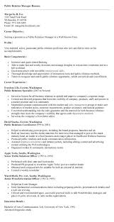 Sample Resume For Public Relations Officer by 20 Well Crafted Public Relations Manager Resume Samples Vinodomia