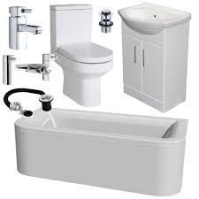 Modern Bathroom Toilet Modern Bathroom Suite 1800mm Double End D Shape Bath Toilet