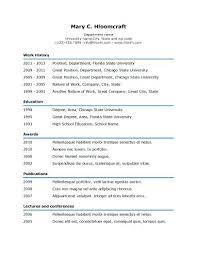 resume format headings header template free maker professional