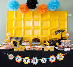 construction party ideas ethan s construction birthday party celebration