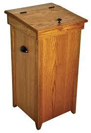Kitchen Cabinet Recycle Bins by Wooden Kitchen Trash Bin Kenangorgun Com