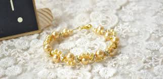 pearls bracelet diy images How to make a champagne wave bracelet with pearls for wedding jpg