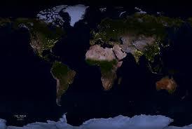 earth map earth at nasa city lights world map