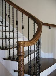 Staining Stair Banister How To Bend A Handrail For Redo Of Stairs Handrail From Metal