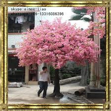 q121707 decorations pink artificial cherry blossom tree
