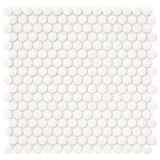Elegance Black And White Mosaic by Penny Mosaic Tile Tile The Home Depot