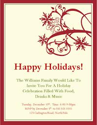free holiday party invitation templates cloveranddot com