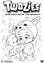 Twozies Coloring Pages Artcommission Me Color Ins