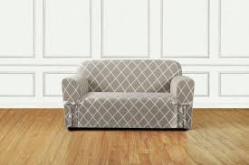 Couch And Loveseat Covers Sure Fit Lattice Box Cushion Sofa Slipcover U0026 Reviews Wayfair