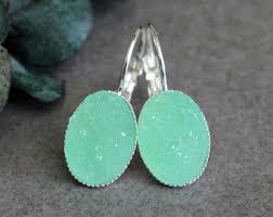 Chandelier Earrings Etsy Mint Green Earrings Etsy