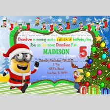 minion birthday party invites minions christmas party birthday invitation chrismas minion card