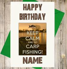 personalised carp fishing birthday card dad son brother husband