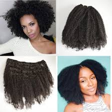 hair clip ins mongolian afro clip in curly human hair extensions for