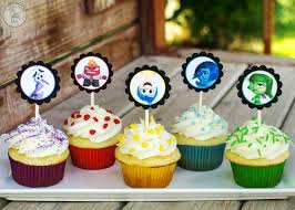 inside out cakes inside out cupcakes with free printable toppers cupcake diaries