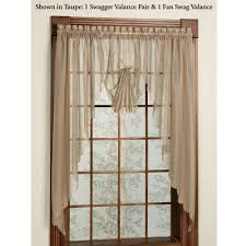 Solid Color Valances For Windows Emelia Sheer Swag Valances And Window Treatments