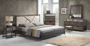 modern king queen dresser bedroom furniture set clearance long adrianna collection walnut 20950 contemporary bedroom set