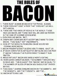 Funny Bacon Meme - bacon rules by andy1221 meme center