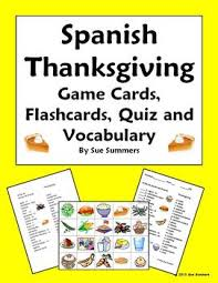 thanksgiving food cards flashcards quiz and vocabulary