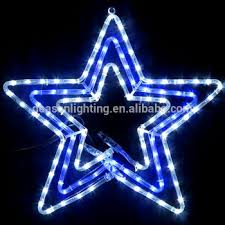 Christmas Rope Light Star by Festive Star Blue White Led Christmas Mains Voltage Flashing